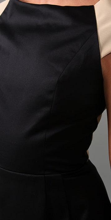 Porter Grey Bow Back Dress