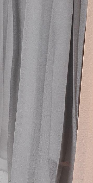 Porter Grey Pleated Long Skirt