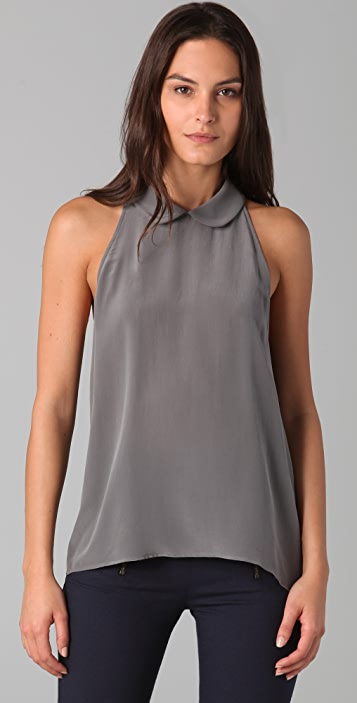 Porter Grey Sleeveless Blouse