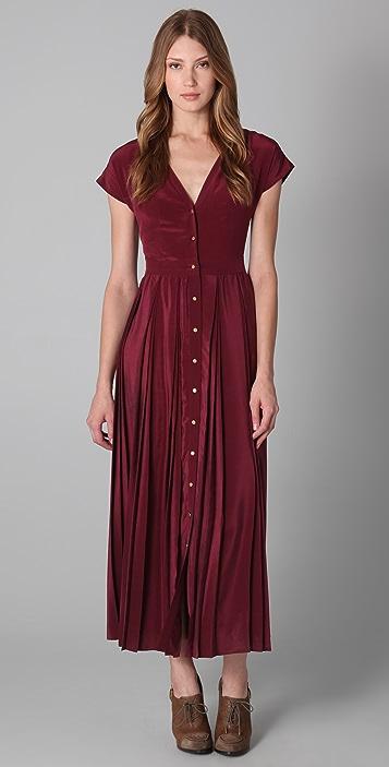 Porter Grey Long Pleated Dress