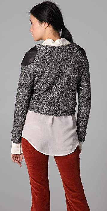Porter Grey Tweed Knit Pullover