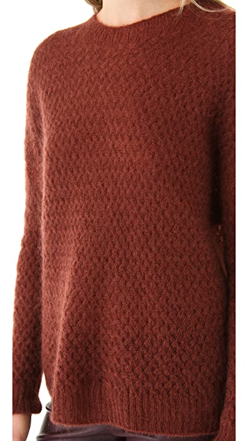 Porter Grey Mohair Textured Sweater