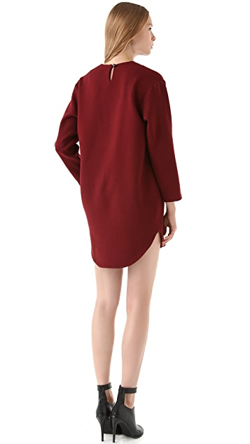 Porter Grey Long Sleeve Shift Dress