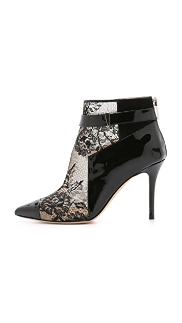 Prabal Gurung Lace & Patent Booties