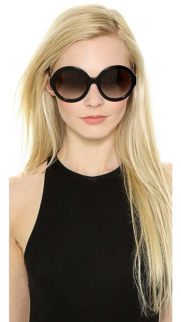 Prada Rounded Sunglasses