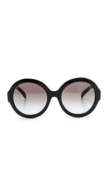 Prada Круглые солнцезащитные очки