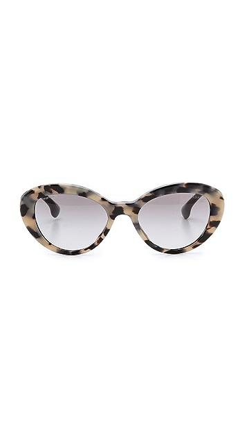 Prada Oval Cat Sunglasses