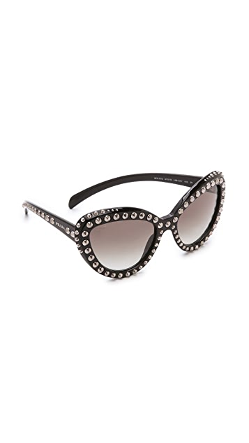 dfe022a5f719 Prada Studded Cat Eye Sunglasses ...