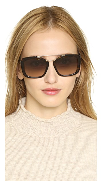 Prada Catwalk Aviator Sunglasses