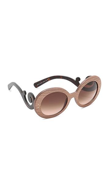 ef90ca459ea4 Prada Wood Sunglasses | SHOPBOP
