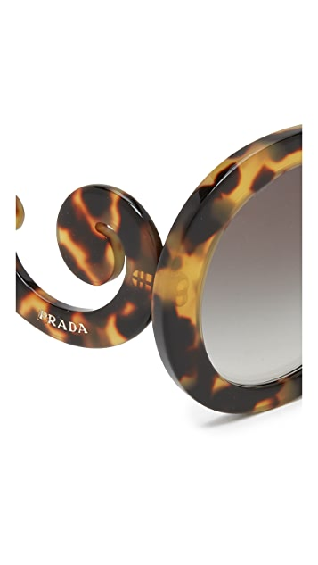 Prada Catwalk Oversized Sunglasses