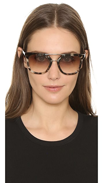 b0251c5c26f7 Prada Thick Frame Aviator Sunglasses; Prada Thick Frame Aviator Sunglasses  ...