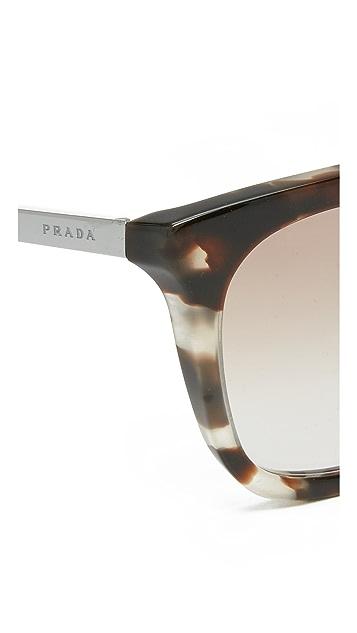 Prada Thick Frame Aviator Sunglasses