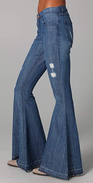 Pray For Mother Nature Ring My Bell Flare Jeans
