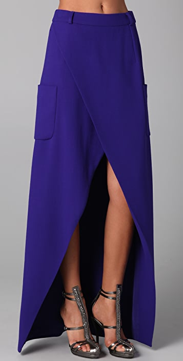 Preen By Thornton Bregazzi Long Slice Skirt
