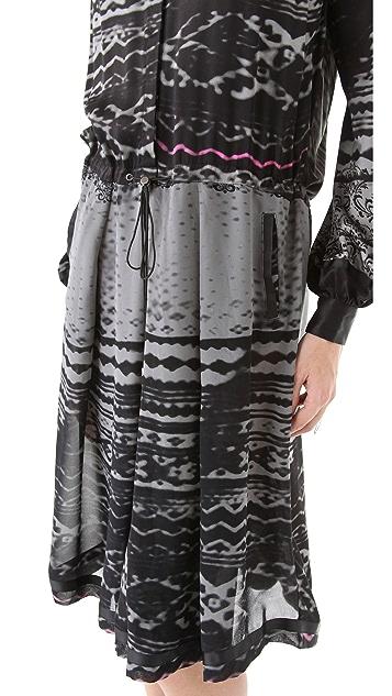 Preen By Thornton Bregazzi Line Print Tie Waist Dress