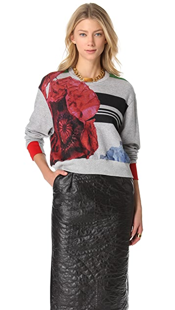 Preen By Thornton Bregazzi Cropped Terry Sweatshirt