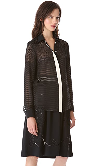 Preen By Thornton Bregazzi Jett Flocked Shirt
