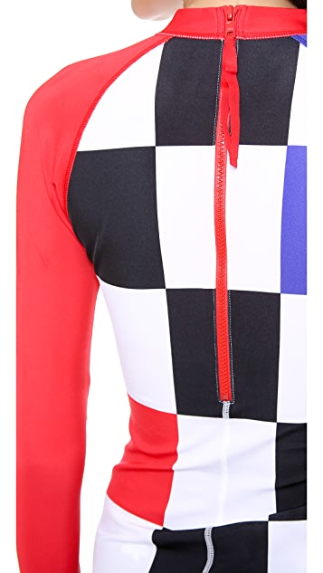 Pret-a-Surf Long Sleeve Colorblock Rash Guard Top
