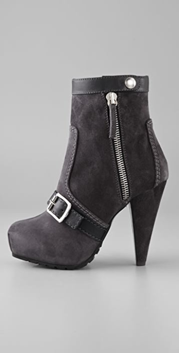 Proenza Schouler Outside Zip Suede Booties