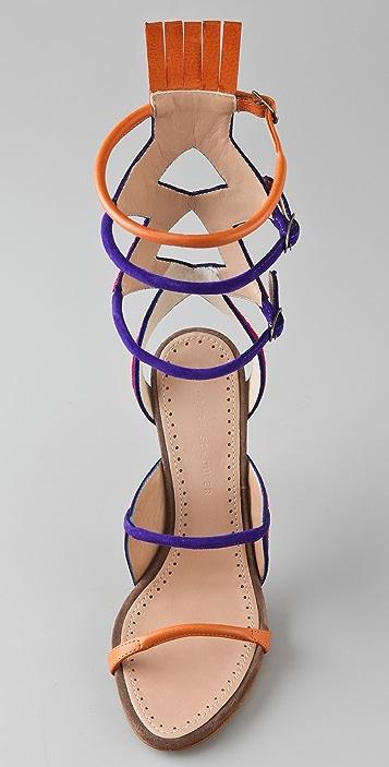 Proenza Schouler Multicolor High Heel Sandals