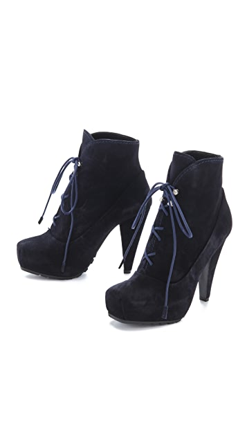 Proenza Schouler Lace Up Platform Booties