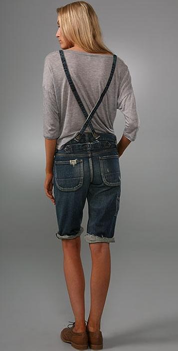 PRPS Japan Suspender Denim Shorts