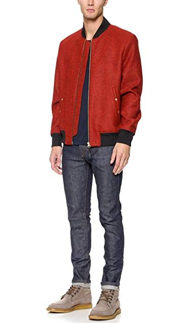 PS by Paul Smith Wool Bomber Jacket