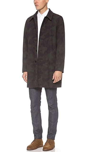 PS by Paul Smith Camo Print Trench Coat
