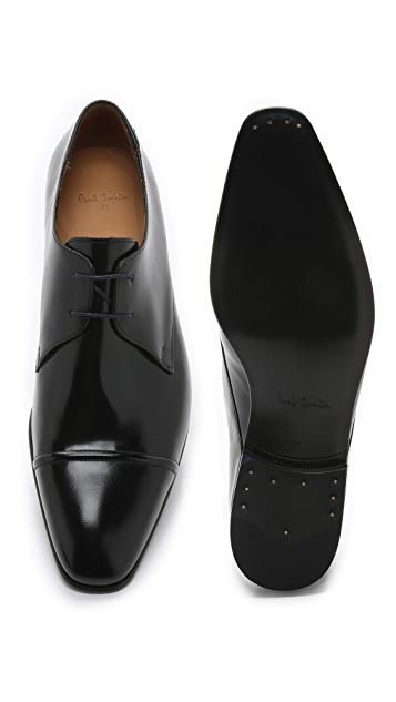 PS by Paul Smith Robin High Shine Cap Toe Derby Shoes