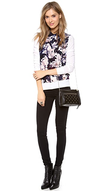 Paul Smith Black Label Magnolia Silk Front Sweater