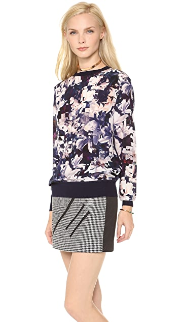 Paul Smith Black Label Magnolia Silk Sweatshirt