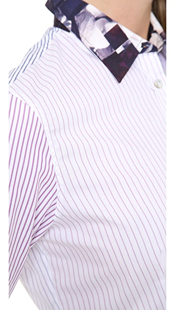Paul Smith Black Label Striped Collared Shirt
