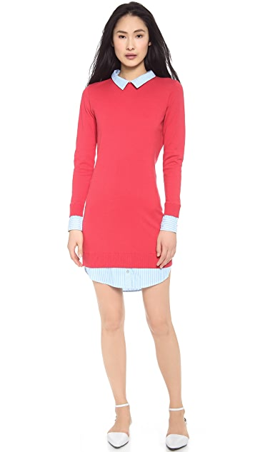 Paul Smith Black Label Cotton Trim Sweater Dress