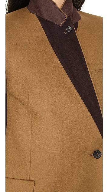 Paul Smith Black Label Colorblock Felt Coat