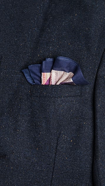 Paul Smith Mr. Brown Teapot Pocket Square