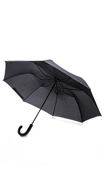 Paul Smith Multistripe Trim Crook Umbrella