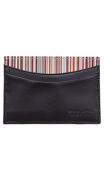 Paul Smith Multi Credit Card Case with Multistripe Interior
