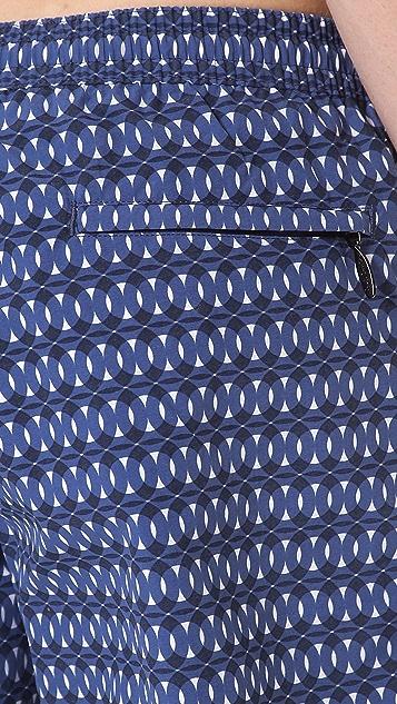 Paul Smith Circle Print Swim Trunks