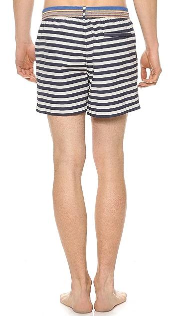 Paul Smith Classic Stripe Swim Trunks