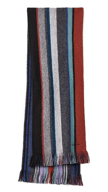 Paul Smith Reversible Stripe Scarf