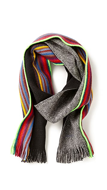 Paul Smith Neon Trim Reversible Scarf