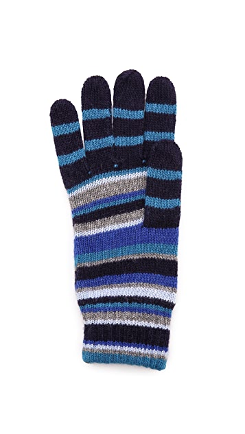 Paul Smith Multi-Stripe Gloves