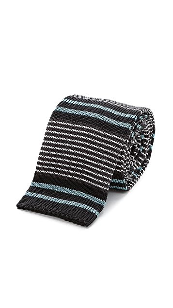 Paul Smith Striped Knitted Tie