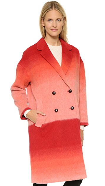 Paul Smith Colorblock Wool Coat