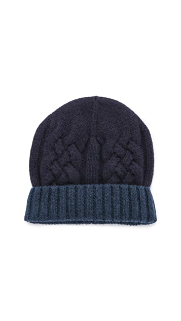 Paul Smith Mixed Cable Knit Hat
