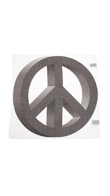 Paul Smith Peace Print Pocket Square