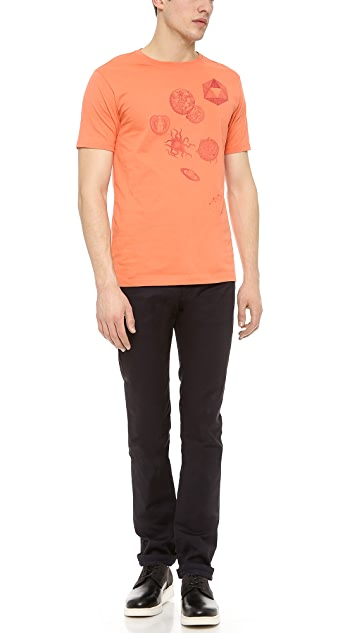 Paul Smith Jeans Slim Fit Saturn Print Tee