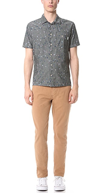 Paul Smith Jeans Short Sleeve Classic Fit Dot Shirt