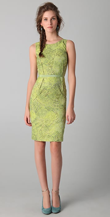 Peter Som Croc Jacquard Dress